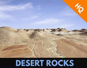 3D asset Rocks Terrain Cliffs Mountain Desert Landscape 4