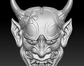 Hannya Mask -relief 3D print model