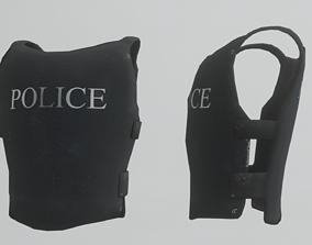 3D model BulletProof Police Vest Low poly PBR