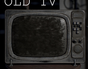 Old TV 3D model realtime