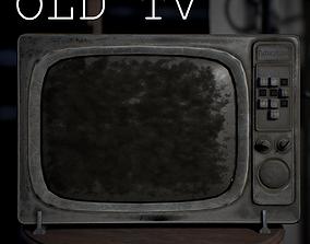 3D asset low-poly PBR Old TV
