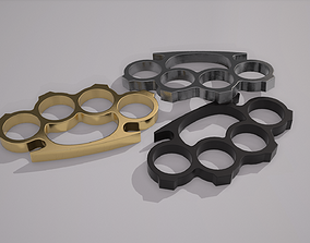 Brass Knuckles 3D model game-ready