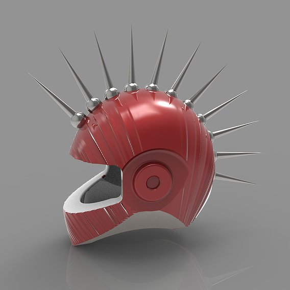 Mohawk Dirt Punk Spike Helmet
