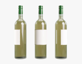 other 3D White wine bottle