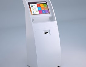 3D model Touch Screen Pay Terminal Screen Display
