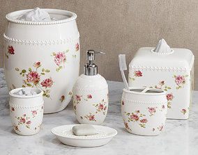 Rosalie Floral Bath Accessories by Piper Wright 3D