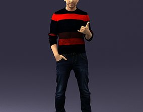 Man in the sweater from Elm street 0282 3D Print