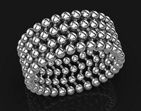 3D printable model Interesting wedding ring with balls