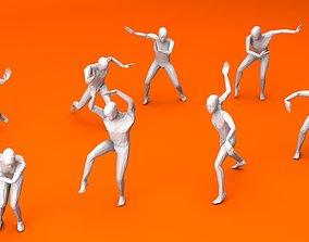 Kung Fu Martial Artists Pack 2 3D model