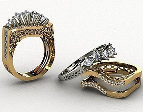 Ring 3D print model gam gem
