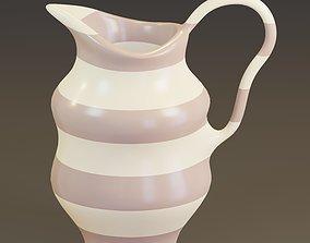 Colored pitcher 3D asset
