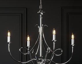 3D model Visual Comfort Double Twist 5-Light Chandelier