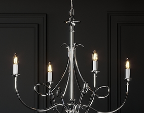 Visual Comfort Double Twist 5-Light Chandelier 3D model