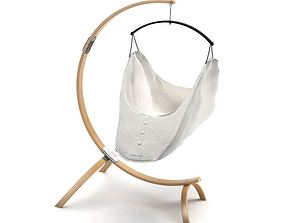 3D model Hanging Baby Bed With Stand