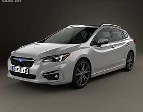 Subaru Impreza 5-door hatchback 2016 mk5 3D model