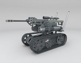 unmanned ground vehicle drone 3D