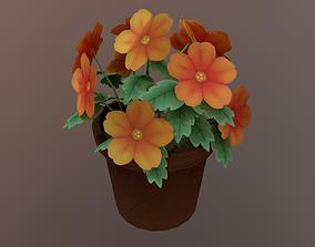 3D asset Flower 01