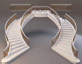 3D model classical staircase 3