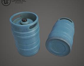 3D model pbr Plastic Barrel