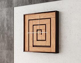 3D asset Wall Wood Clock