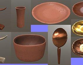3D asset Egyptian utensils kitchenware