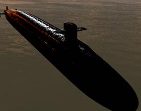 3D PBR Ohio Class Nuclear Submarine Model