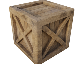 3D asset realtime Wooden Crate