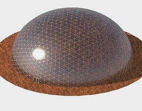 Geodesic dome 3D sci-fi