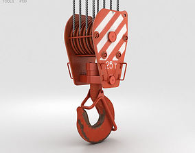 industry pulley 3D Crane Hook