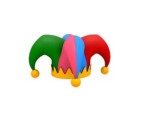 cartoon 3D Jester Hat