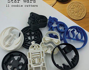 Star Wars Cookie cutters 3D printable model