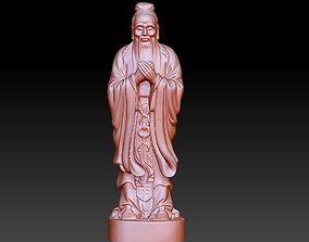 Confucius statue 3D printable model