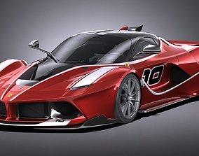 Ferrari FXX K 2015 LowPoly 3D model