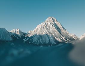 Snow-Covered Landscape snow 3D model