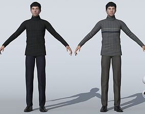Men in sweaters Male Casual chinese 3D model