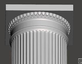 Doric Column with relief - 3d model for CNC -
