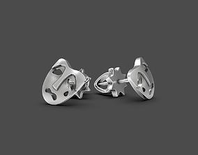 3D print model Mask stud earrings Tragedy