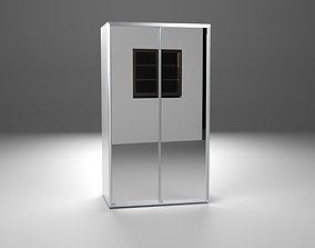 3D model closet with 2 mirror doors