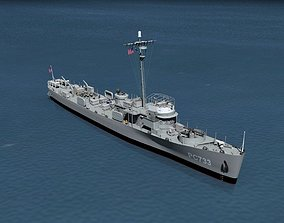 USS PC-733 Subchaser 3D