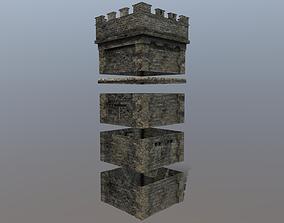 3D asset realtime Medieval Modular Tower Builder