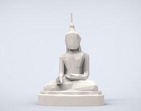 Printable Healer Buddha Lowpoly Style