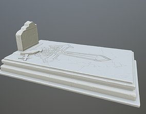 3D printable model tombstone 9