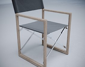 Director Outdoor Teak Armchair 3D