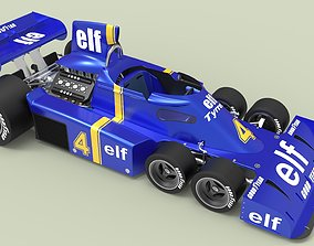 3D model Tyrrell P34 six-wheeler formula 1