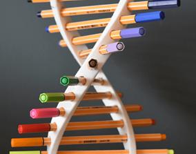DNA Pen Holder by TIXEN 3D printable model