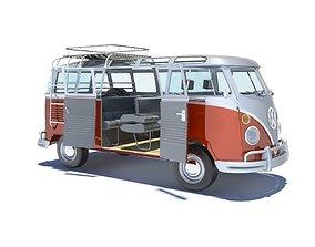 3D model Volkswagen Kombi Samba Deluxe 1962