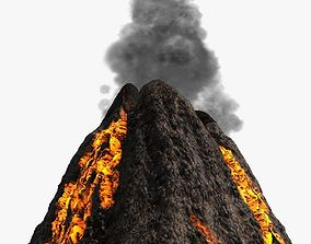 3D model Low poly volcano