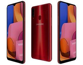 Samsung Galaxy A20s Red 3D model