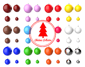 3D model Christmas Tree Decoration Ball Collection 02