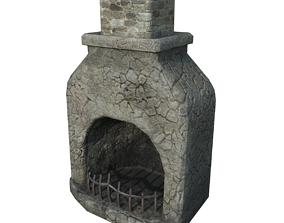 3D asset Medieval Fireplace